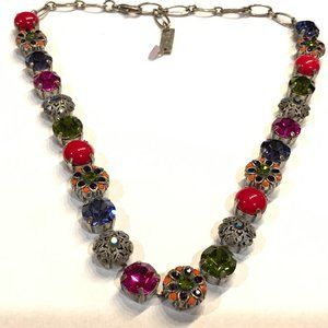 Mariana Silver Plated Necklace, Swarovski Crystals